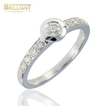 Briliantový Zlatý Prsteň 0,31ct. Au585/000