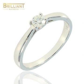 Briliantový zlatý Prsteň Au585/000 s diamantom 0,22ct.