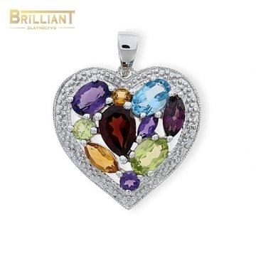 Diamantový zlatý Prívesok Au585/000 s 12 diamantmi 0,04ct.