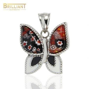 Prívesok chirurgická oceľ Motýľ