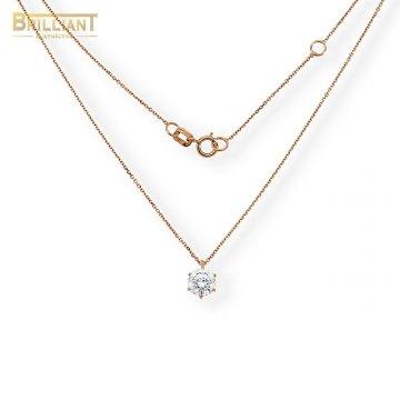 Zlatá retiazka Au585/000 14k ružové zlato s príveskom