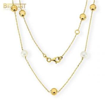 Zlatá retiazka Au585/000 14k s perlami