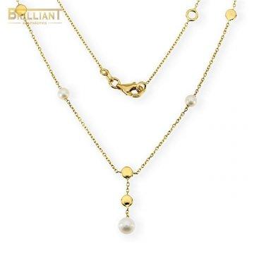 Zlatá retiazka Au585/000 14k s perličkami