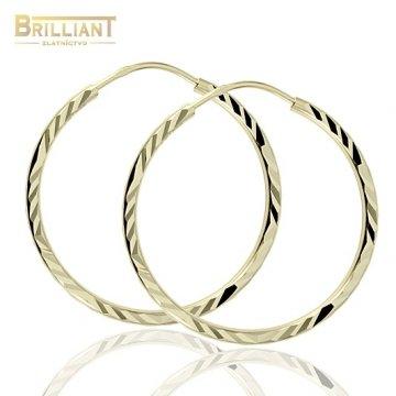 Zlaté náušnice Au585/000 14k Kruhy 2,5cm
