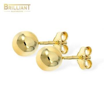 Zlaté náušnice Au585/000 14k napichovacie guličky 0,6cm