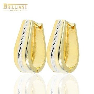 Zlaté náušnice Au585/000 14k Otváracie slzičky