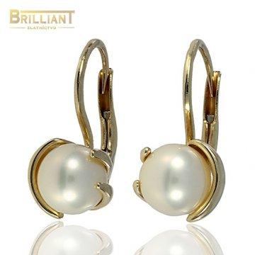 Zlaté Náušnice s perlou Au585/000