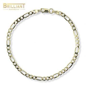Zlatý Náramok Au585/000 Figaro