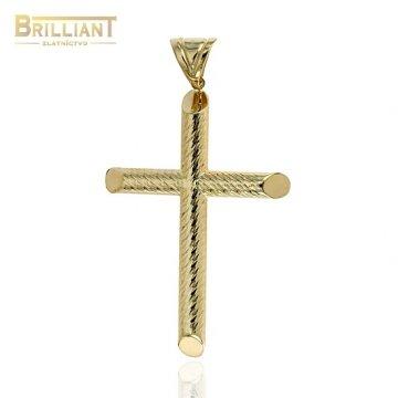 Zlatý prívesok Au585/000 14k krížik s gravírom