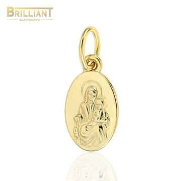 Zlatý prívesok Au585/000 14k Škapuliar 1,2cm
