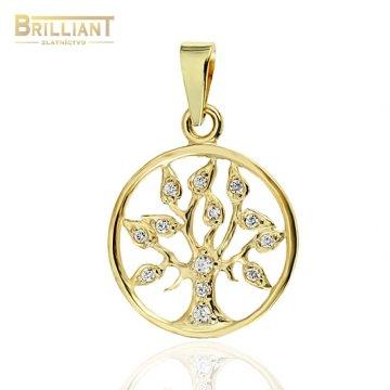 Zlatý prívesok Au585/000 14k strom života - tree of life