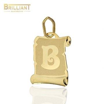 Zlatý Prívesok Au585/000 písmeno B