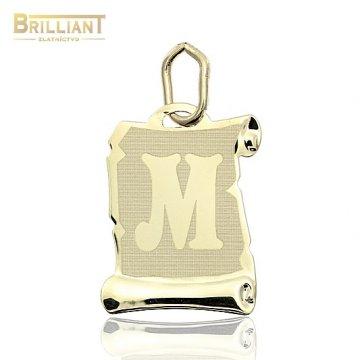 Zlatý Prívesok Au585/000 písmeno M