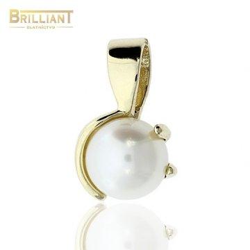 Zlatý Prívesok Au585/000 s perlou