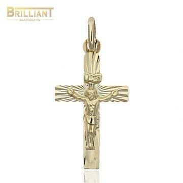 Zlatý Prívesok Krížik Au585/000