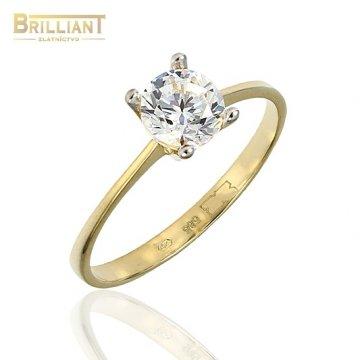 Zlatý prsteň Au585/000 14k s kameňom