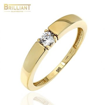 Zlatý prsteň Au585/000 14k s kamienkom