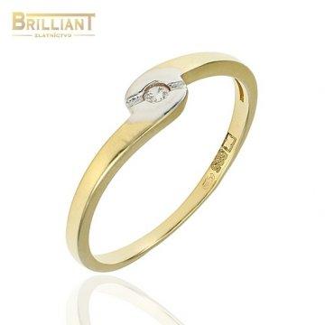 Zlatý prsteň Au585/000 14k so zirkónom